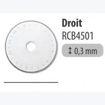 Lame 45mm DROITE - Pack 1 pièce