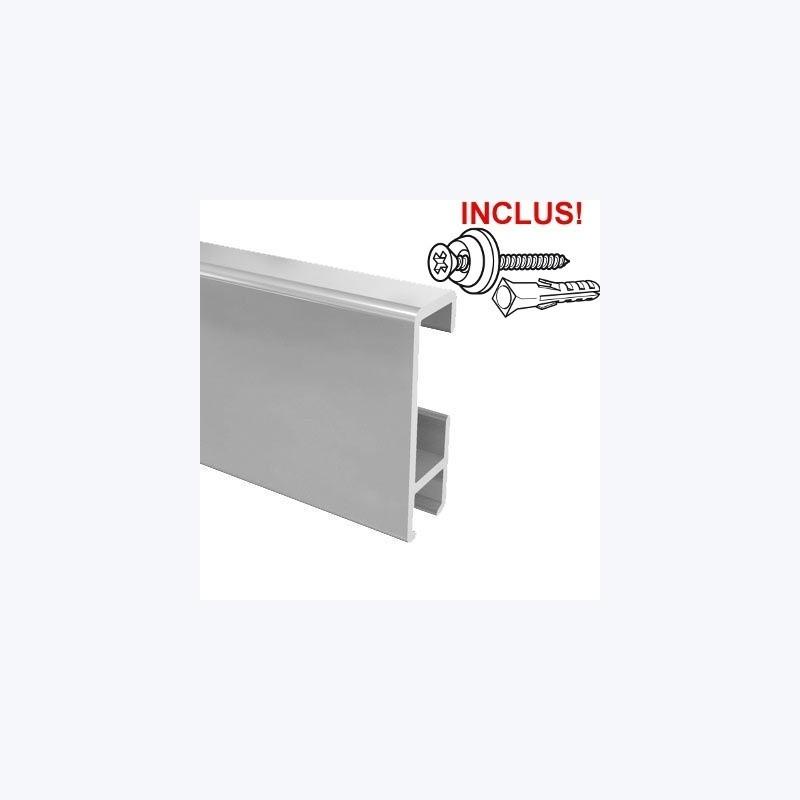 Rail cimaise Cliprail 200cm (fixation incluse)