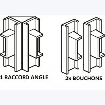 Cimaises Minirail - 2x bouchon d'extrémité ou 1x raccord d'angle