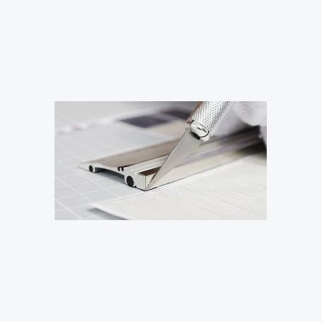 50cm - Règle Alu avec bord en acier renforcé