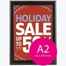Cadre clic clac pour affiche A2 (42x59,4cm) profilé 25mm, angles droits 1