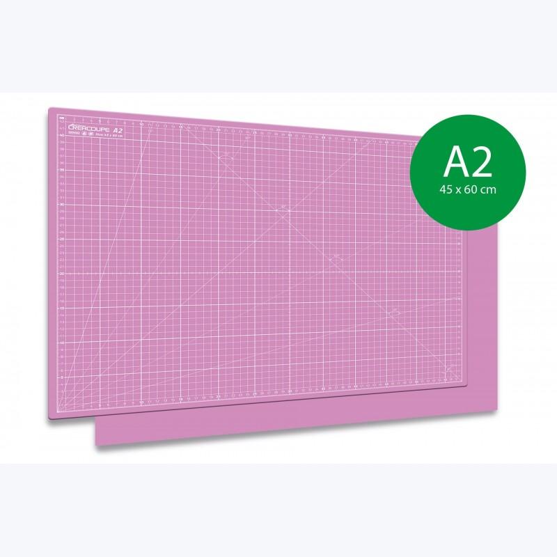 Tapis de découpe auto-cicatrisant A2-45x60cm ROSE
