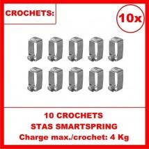 Pack de 10x crochets SMARTSPRING pour fils perlon et acier cimaise Stas
