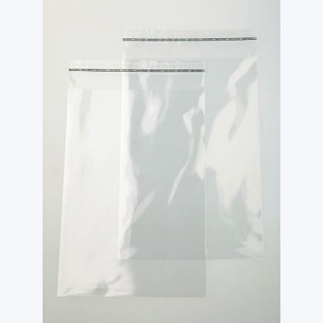 Pochette transparente adhésive 20x20cm (brut 21x21cm)