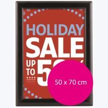 Cadre clic clac Noir - angles droits B2 (50x70cm)