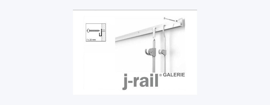 Cimaise pour tableaux, Cimaise, Cimaises STAS J-Rail-Galerie