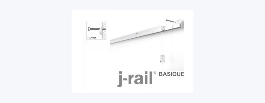 Cimaise pour tableaux, Cimaise, Cimaises J-Rail Basic