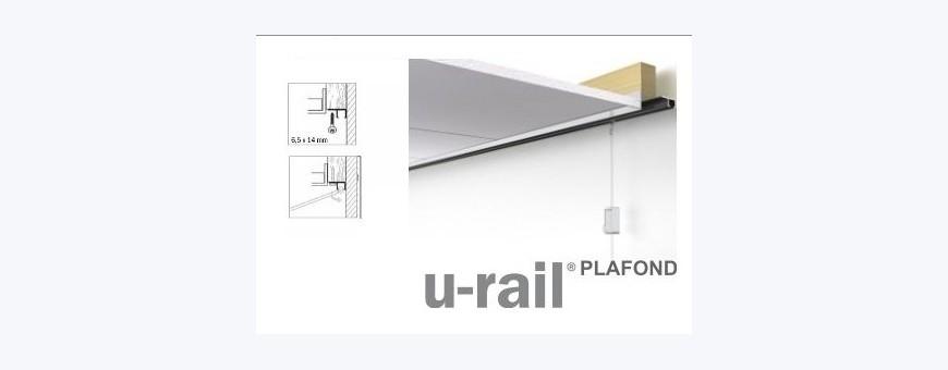Cimaise, Cimaises, cimaise pour tableaux STAS U-Rail pour un accrochage au plafond simple, rapide et parfait